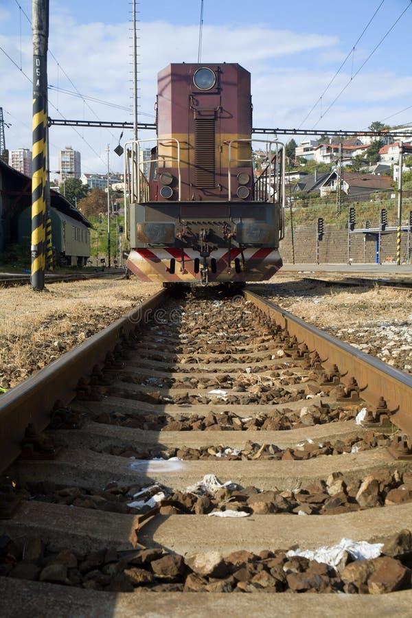 Locomotive dans la gare photos libres de droits
