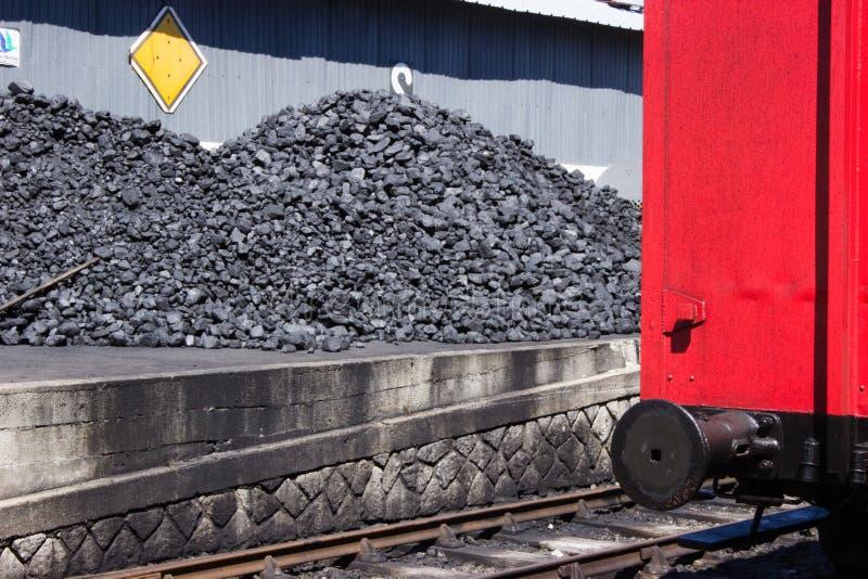 Locomotive de Les charbons de la vieille image stock