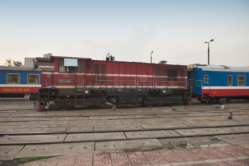 Locomotive diesel a Hanoi immagini stock