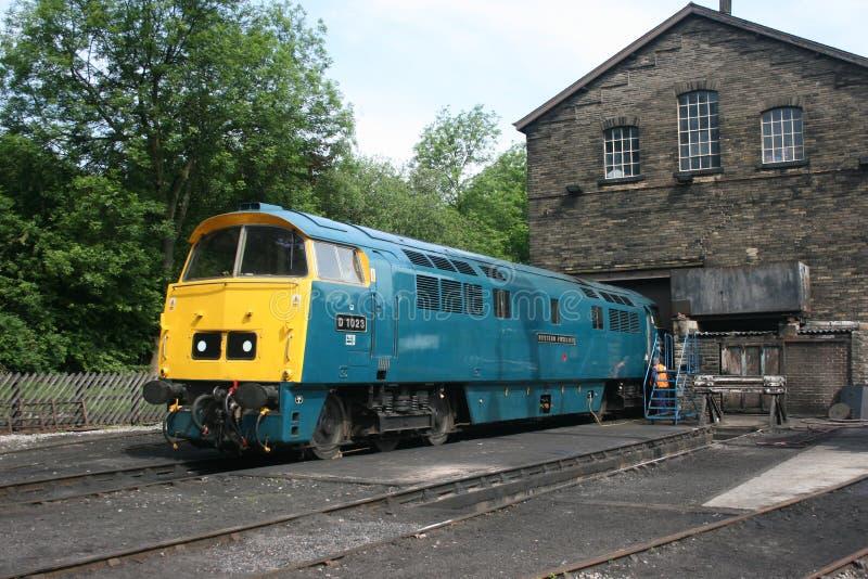 Locomotive diesel occidentale nationale D1023 de musée ferroviaire chez Hawor images libres de droits