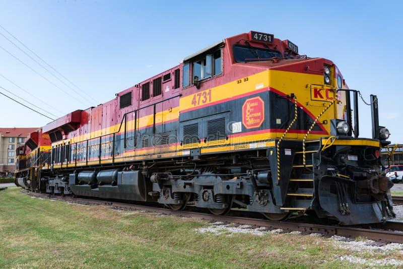 Locomotive du sud de Kansas City De Mexique photo libre de droits
