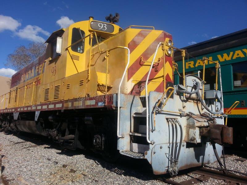 Locomotive Engine Classic Southern Railways. Southern Railways Locomotive Engine Santa Fe New Mexico Historic District stock image