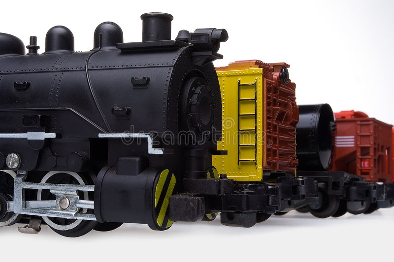 Locomotive and freight cars royalty free stock image