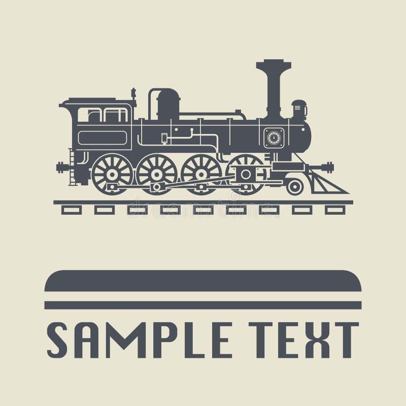 Locomotive icon or sign. Vector illustration royalty free illustration