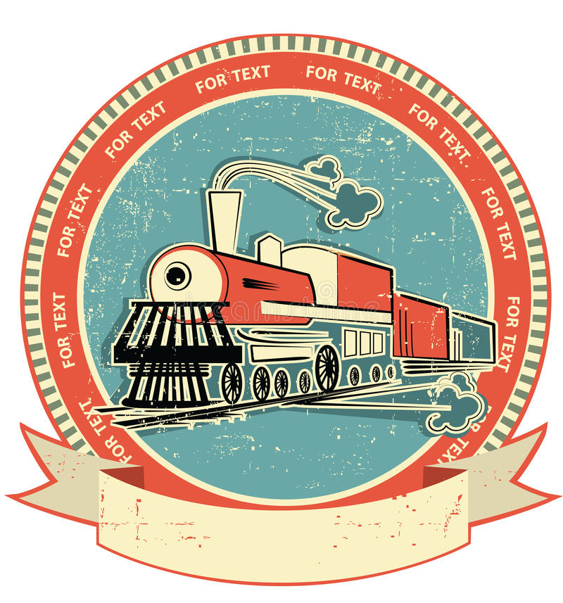 Free Locomotive Label.Vintage Style On Old Texture Royalty Free Stock Photo - 23223655
