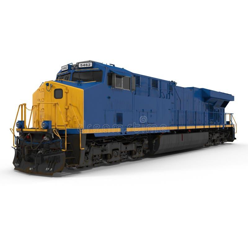 Locomotive moderne d'isolement sur le blanc illustration 3D illustration de vecteur