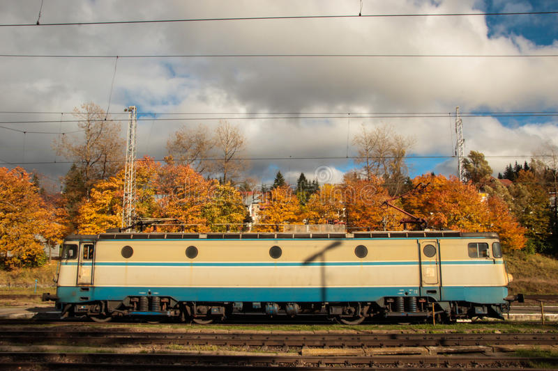 Romanian Electric Locomotive. Picture of a Romanian made electric locomotive. The model is probably about twenty years old royalty free stock photography