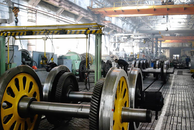 Locomotive repair plant royalty free stock images