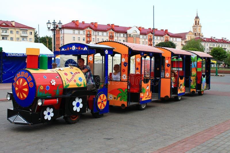 A locomotive from Romashkovo royalty free stock photography