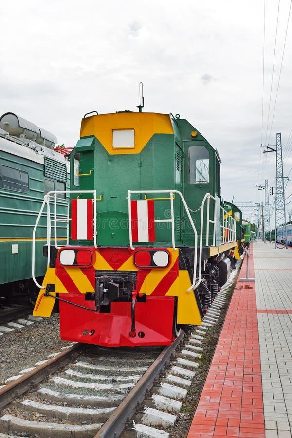 Locomotive shunting ТЭМ15 No. 016. Novosibirsk Museum of rail. Novosibirsk Museum of railway equipment in Novosibirsk, Siberia, Russia - July 7, 2017 royalty free stock photos