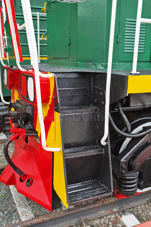 Locomotive shunting ТЭМ15 No. 016. Novosibirsk Museum of rail. Novosibirsk Museum of railway equipment in Novosibirsk, Siberia, Russia - July 7, 2017 royalty free stock image