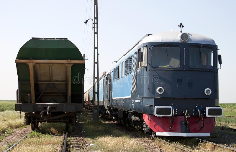 Locomotive And Wagons Royalty Free Stock Image