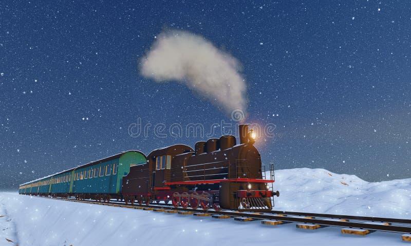 Locomotora stock de ilustración