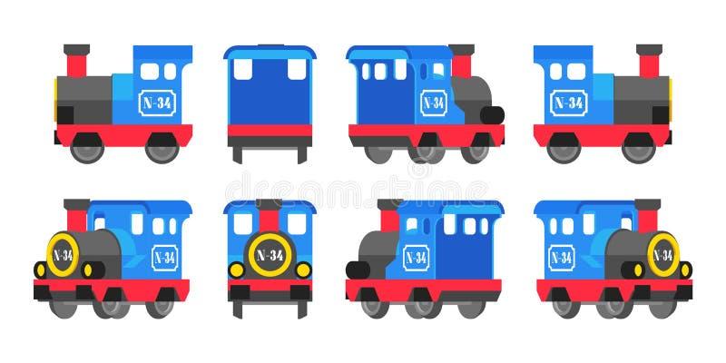 Locomotora azul clara del juguete stock de ilustración