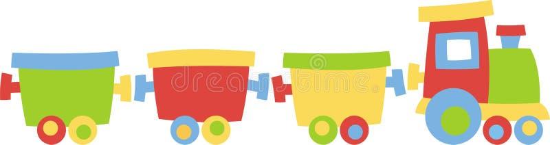 Locomotora con los carros libre illustration