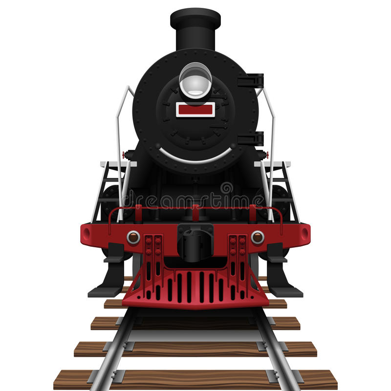 Locomotora de vapor ilustración del vector