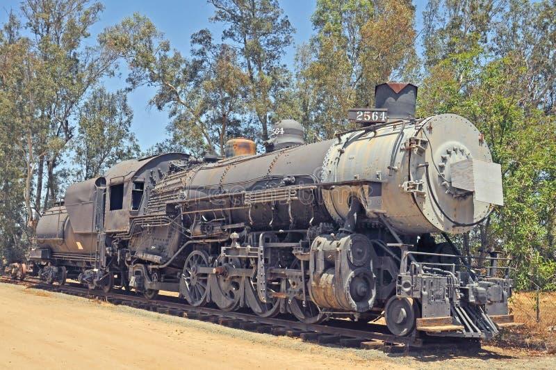 Locomotora de vapor de ALCO Mikado 2-8-4 fotos de archivo libres de regalías