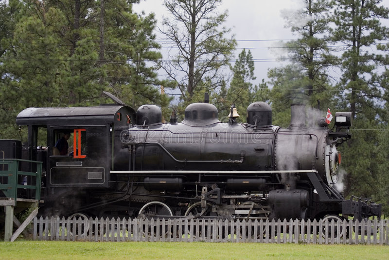 Locomotora de vapor antigua fotos de archivo