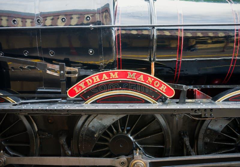 Locomotora de vapor brit?nica restaurada 7827' se?or?o de Lydham ?, Paignton, Devon, Inglaterra, Reino Unido, el 24 de mayo de 20 fotografía de archivo