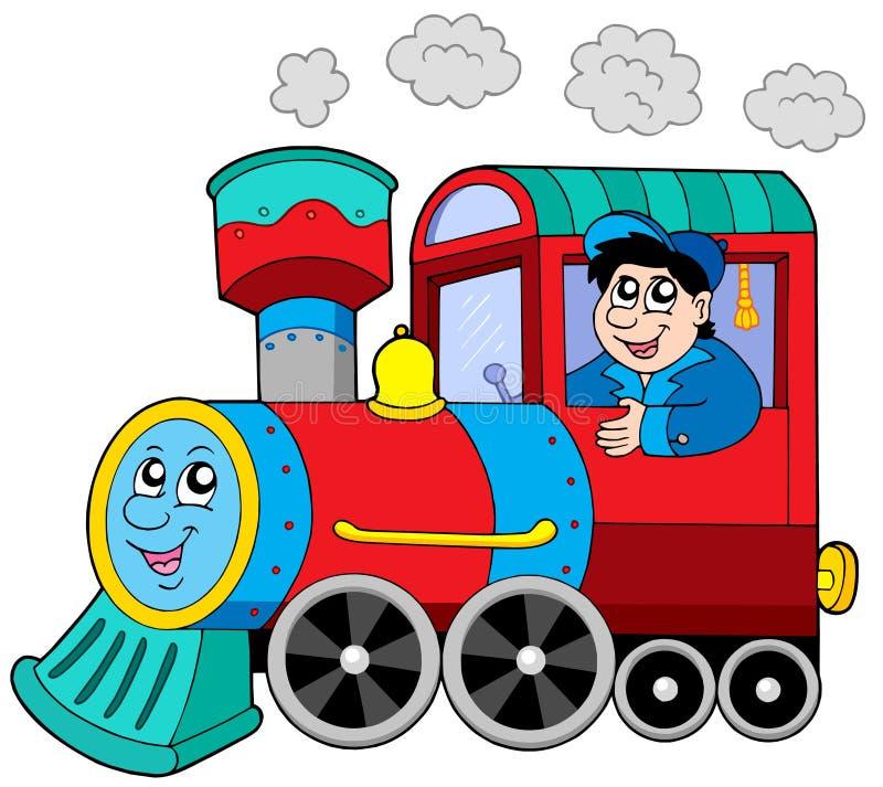 Locomotora de vapor con el programa piloto de motor libre illustration