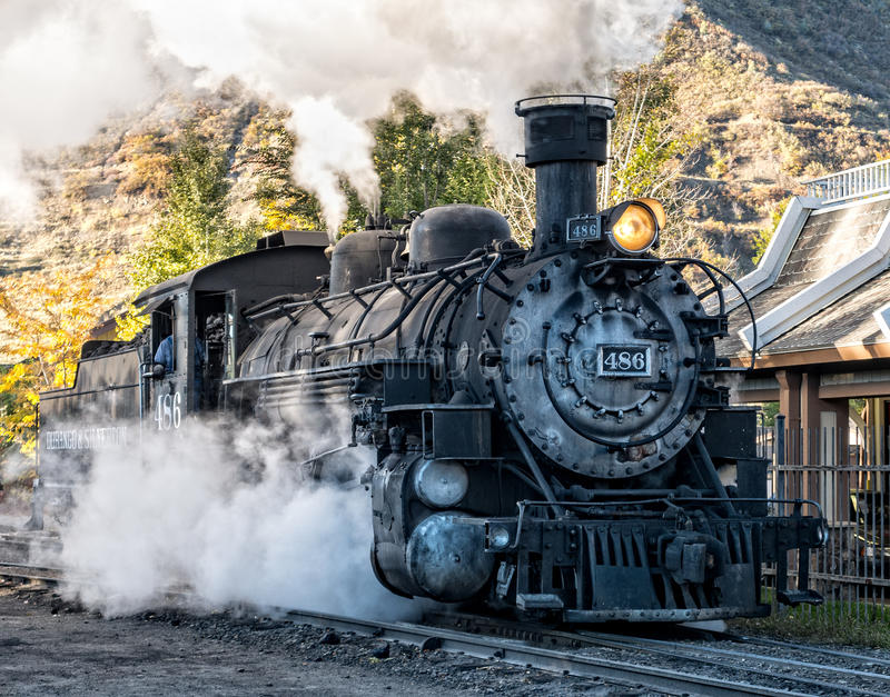 Locomotora de vapor, Durango, Colorado imagen de archivo libre de regalías