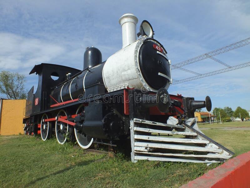 Locomotora de vapor reacondicionada cabina posterior para la exposición en un museo imagen de archivo