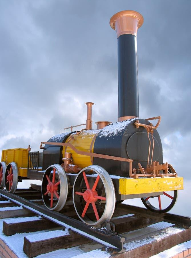 Locomotora de vapor rusa vieja imágenes de archivo libres de regalías