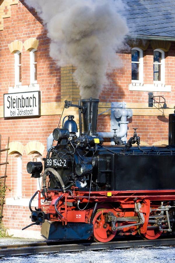 locomotora de vapor, Steinbach - Jöhstadt, Alemania imagen de archivo