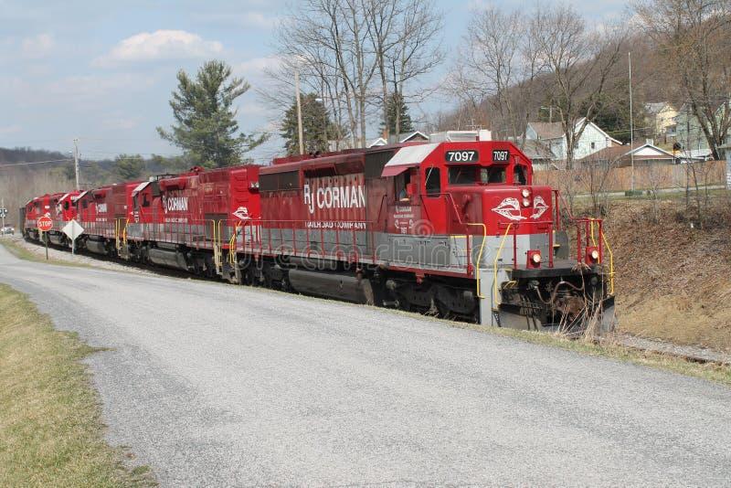 Locomotora 7097 del ferrocarril de RJ Corman fotografía de archivo libre de regalías
