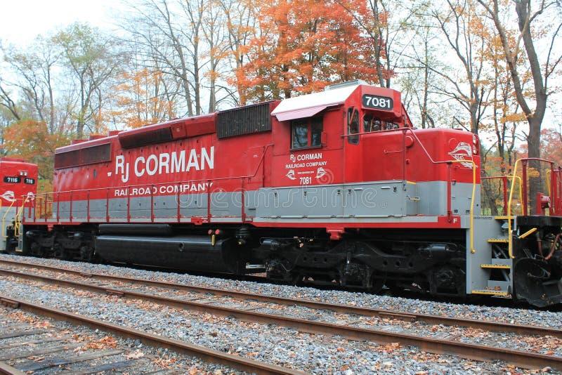 Locomotora 7081 del ferrocarril de RJ Corman fotografía de archivo libre de regalías