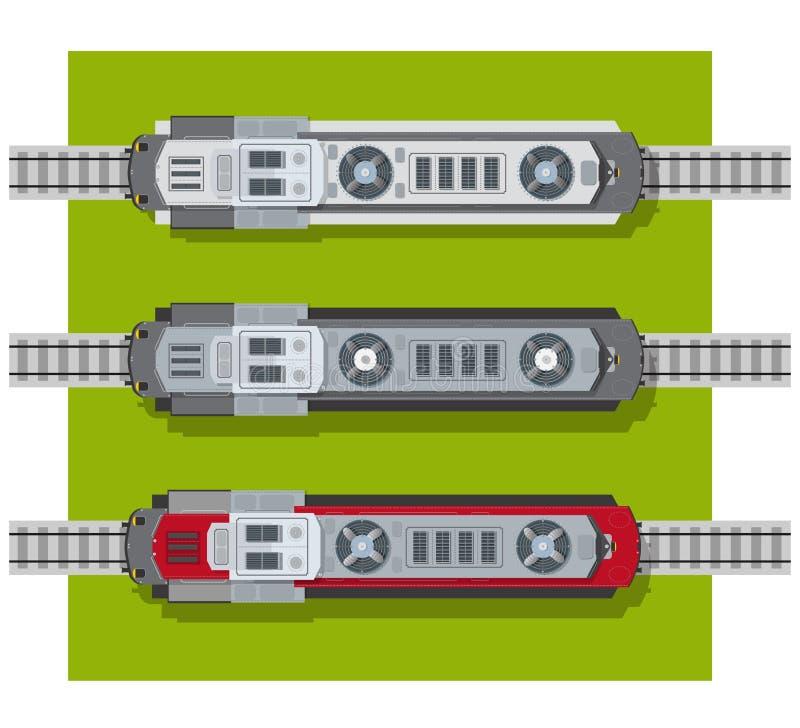 Locomotora eléctrica de ferrocarriles libre illustration