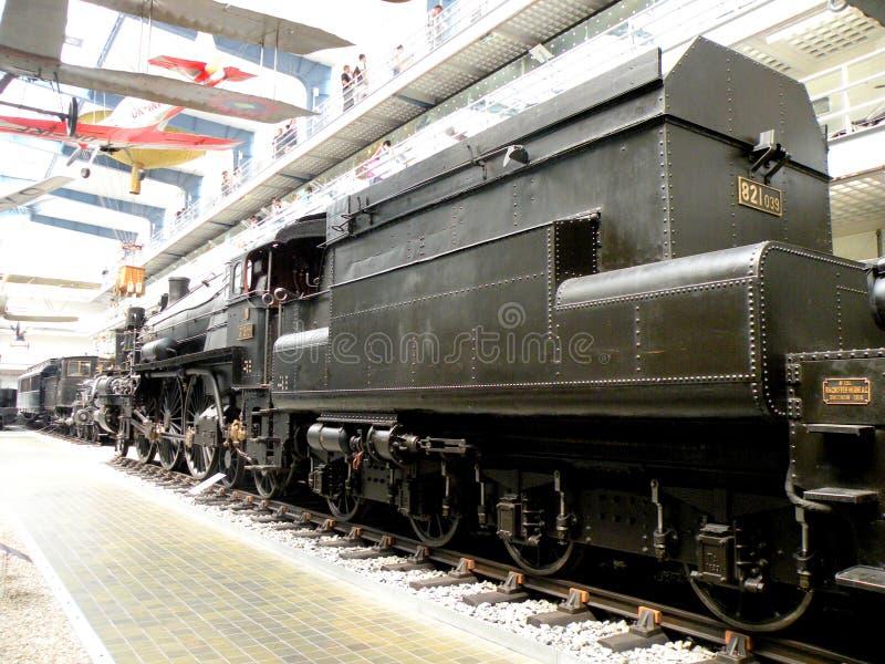 Locomotora en el museo técnico en Praga imágenes de archivo libres de regalías