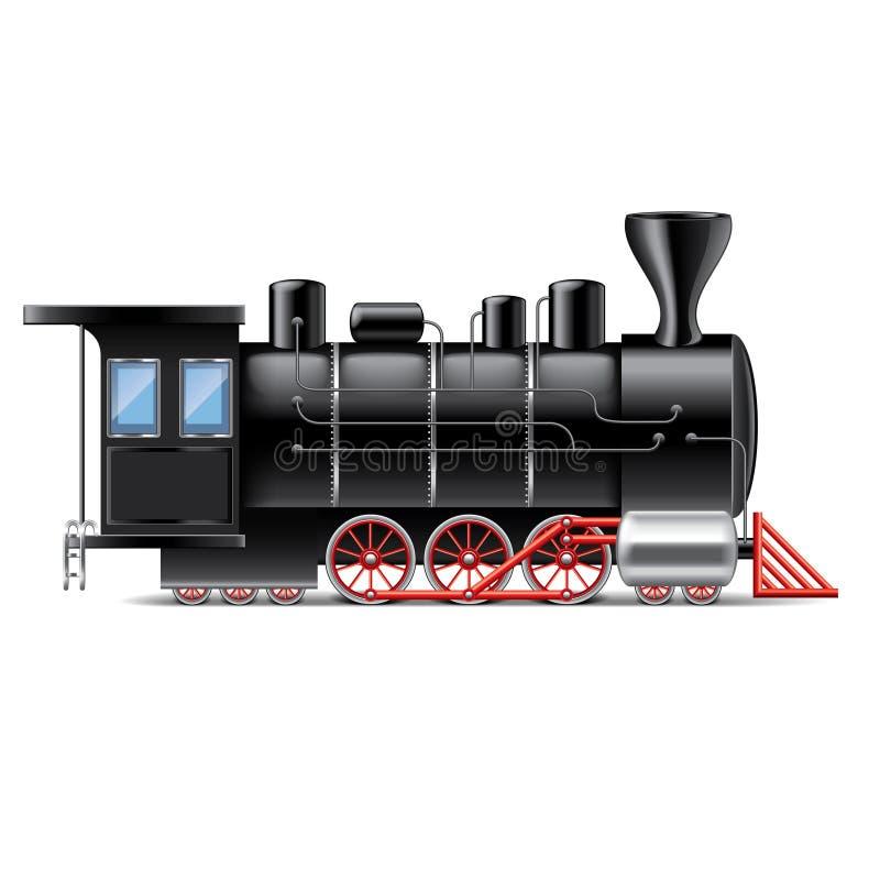 Locomotora en el vector blanco stock de ilustración