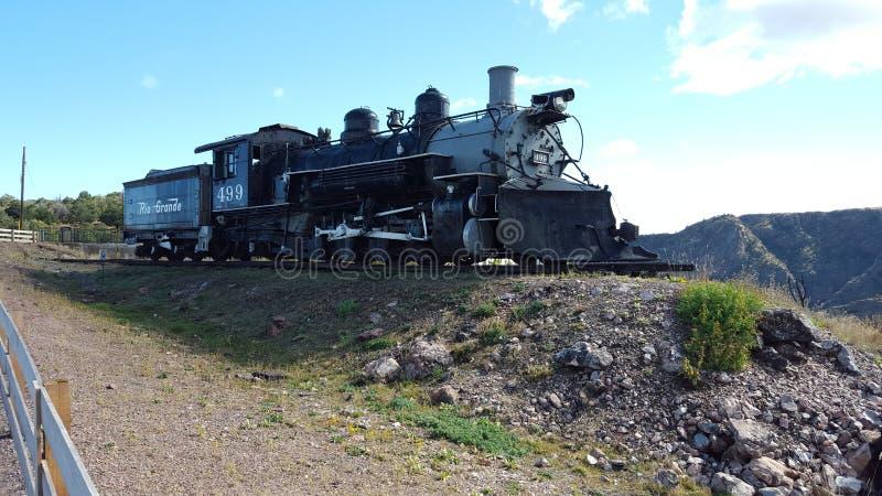 Locomotora en la exhibición en la garganta real Colorado imagen de archivo libre de regalías