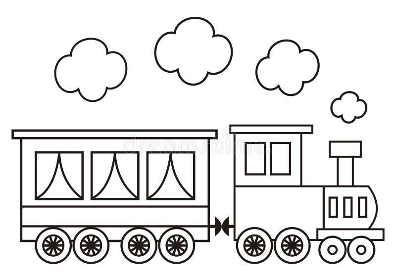 Locomotora, libro de colorear ilustración del vector