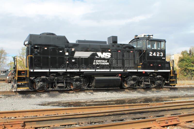 Locomotora meridional 2423 de Norfolk fotos de archivo libres de regalías