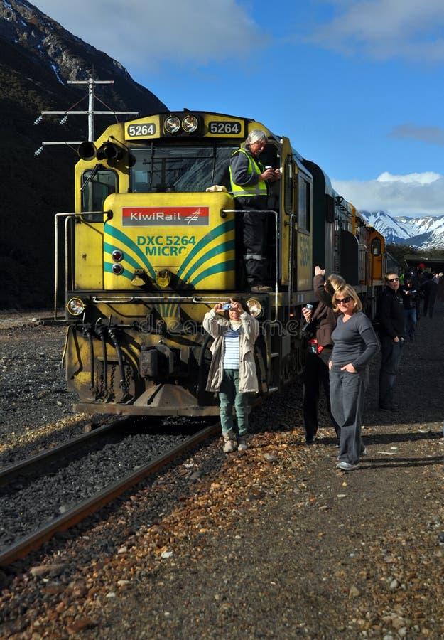 Locomotora Nueva Zelandia de TranzAlpine DXC 5264 fotos de archivo