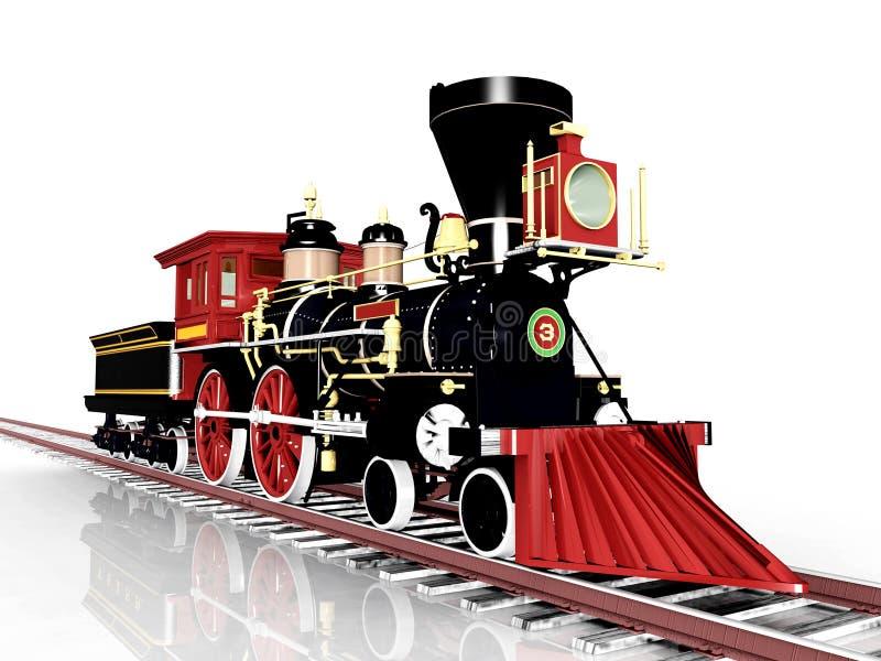Locomotora vieja ilustración del vector