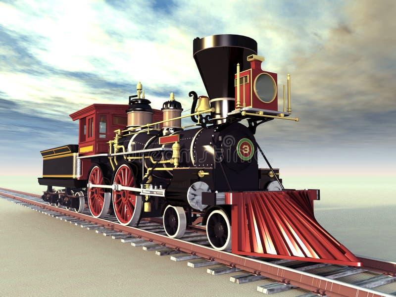 Locomotora vieja stock de ilustración