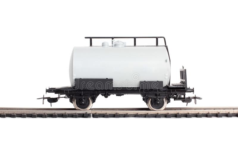 Locomotora y cisterna dos imagen de archivo