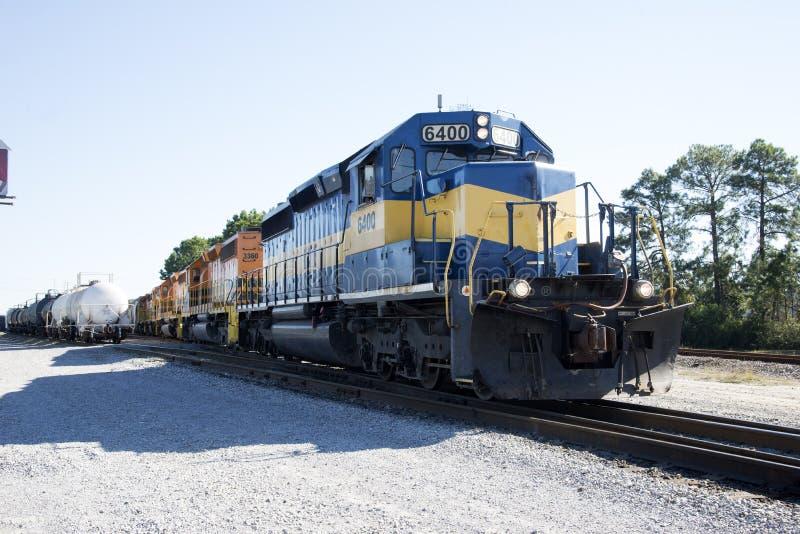 Locomotoras americanas del ferrocarril fotografía de archivo libre de regalías