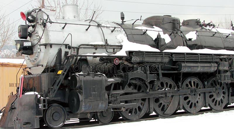 Locomotoras del vintage en museo del ferrocarril de Colorado foto de archivo libre de regalías