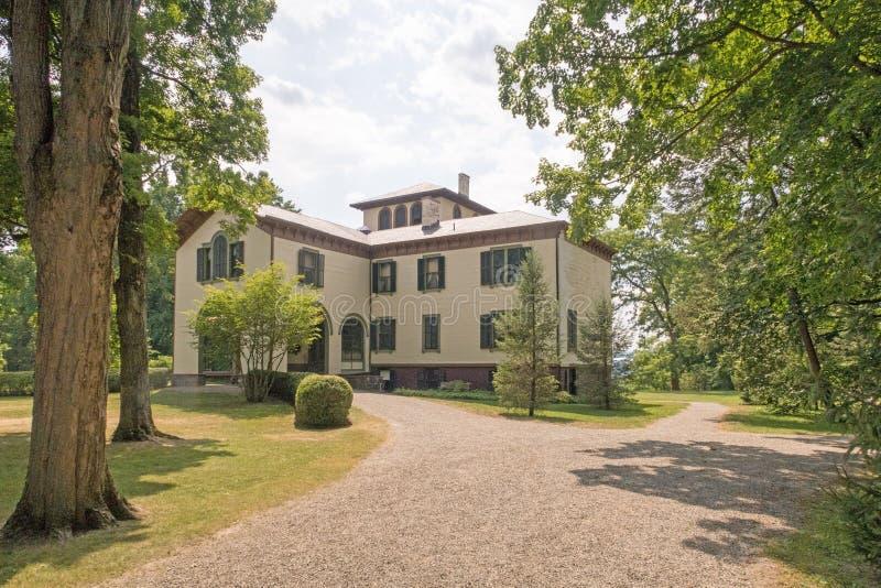 Locust Grove. Mansion, museum of inventor, artist Samuel Morse, American national historic landmark, villa in the Italianate style designed 1850, three stories stock images