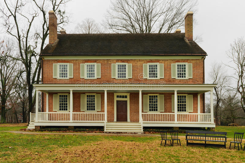 Locust Grove Mansion Louisville KY. LOUISVILLE, KY,USA - JAN 15, 2017: National Historic Landmark Locust Grove is a c.1792 Georgian mansion owned by the Croghan stock image