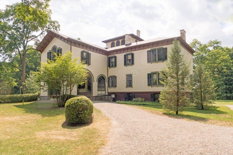 Locust Grove. Mansion, museum of inventor, artist Samuel Morse, American national historic landmark, villa in the Italianate style designed 1850, three stories stock photos