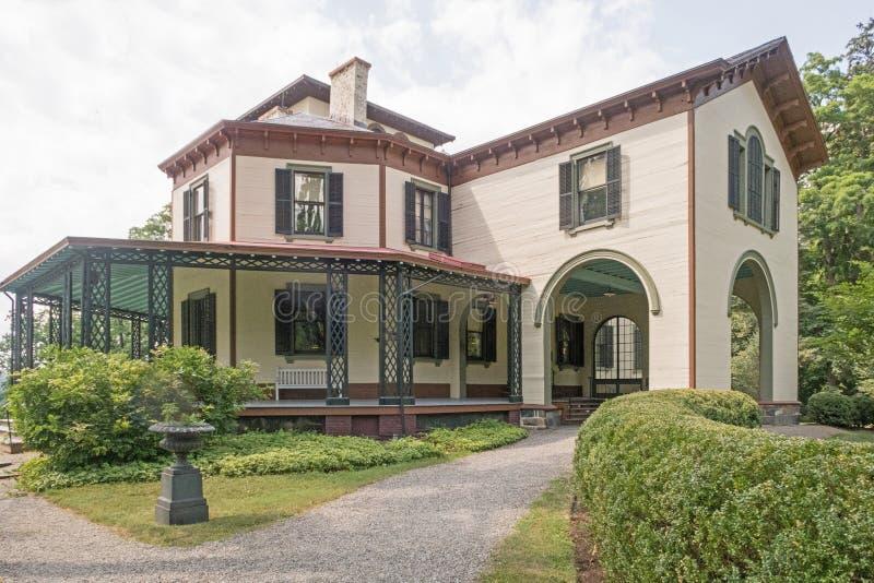 Locust Grove. Mansion, museum of inventor, artist Samuel Morse, American national historic landmark, villa in the Italianate style designed 1850, three stories stock photography