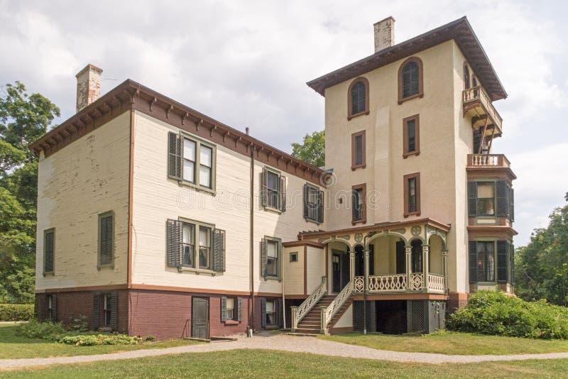 Locust Grove. Mansion, museum of inventor, artist Samuel Morse, American national historic landmark, villa in the Italianate style designed 1850, three stories stock image