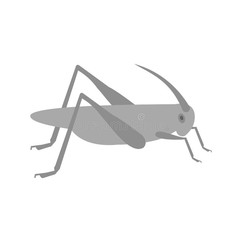 Locust Infestation. Grasshopper, head, insect icon image. Can also be used for disasters. Suitable for mobile apps, web apps and print media royalty free illustration