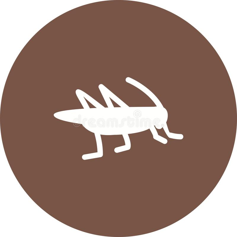 Locust Infestation. Grasshopper, head, insect icon vector image. Can also be used for disasters. Suitable for mobile apps, web apps and print media stock illustration