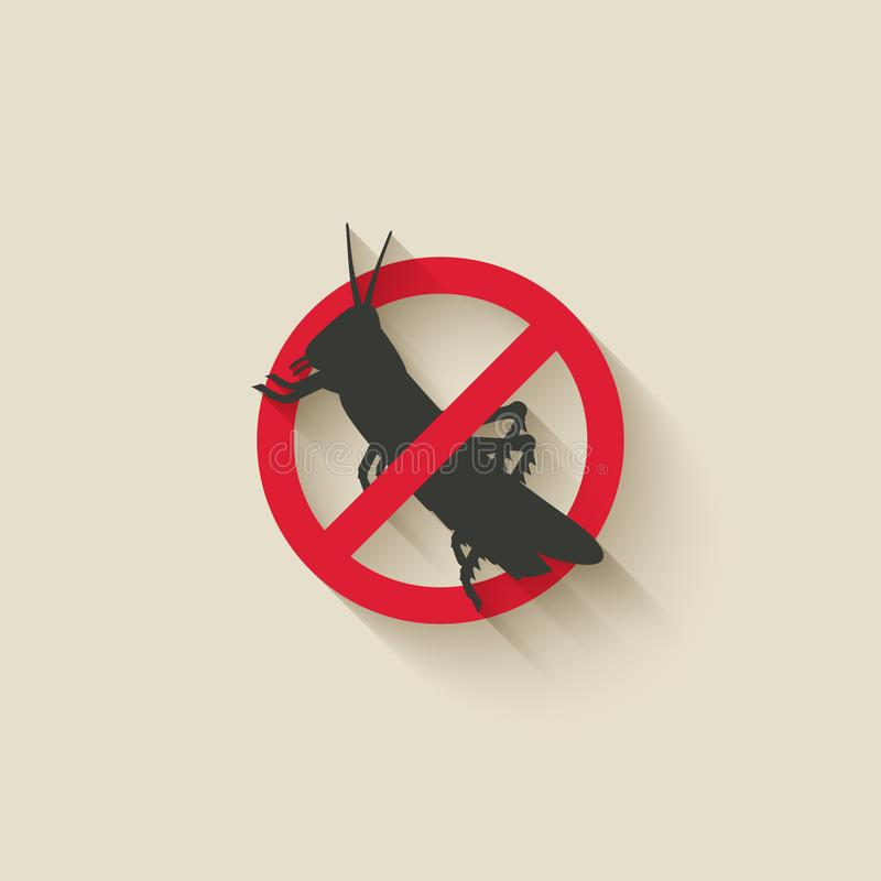Locust insect pest icon royalty free illustration